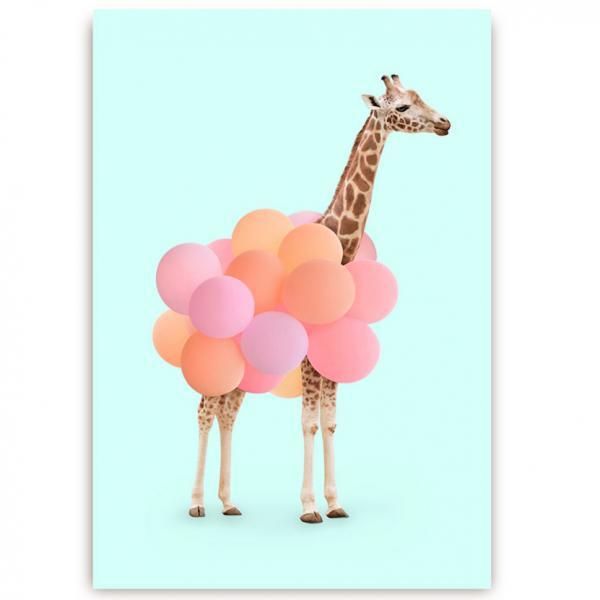 POstkarte Giraffe
