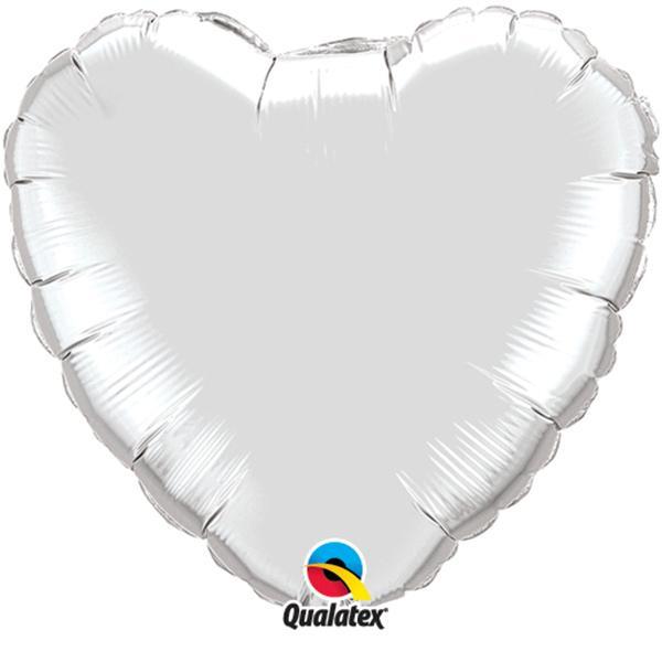 Ballon Herz Silber