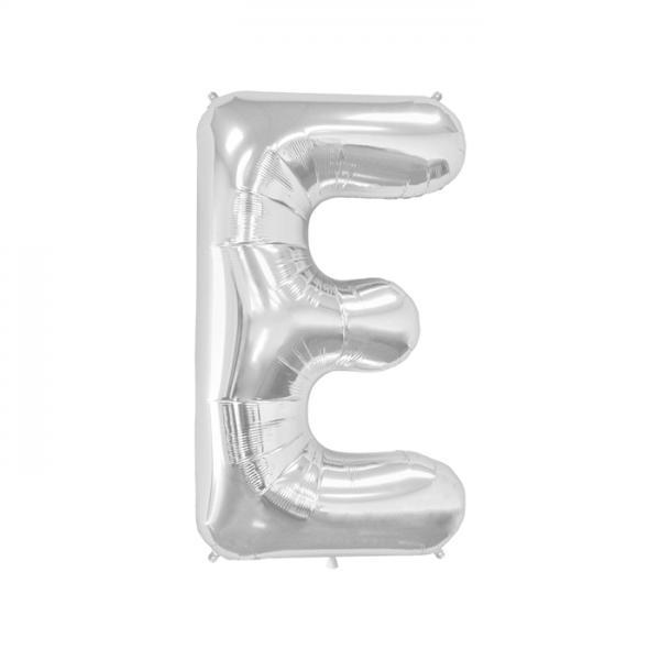 Buchstabe E Folienballon Silber