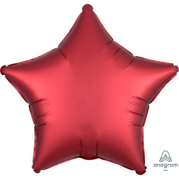 Folienballon Stern Rot Chrome