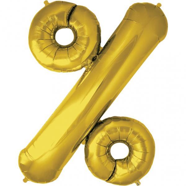 Prozentzeichen Ballon Gold
