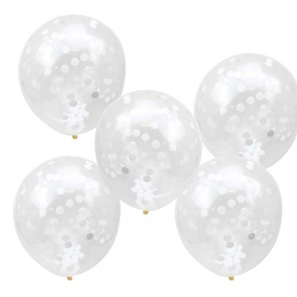 Konfettiballons weißes konfetti