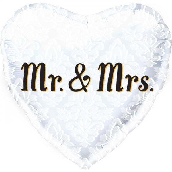 Mr & Mrs Hochzeit Folienballon