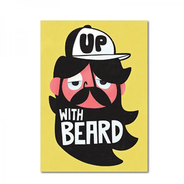 Postkarte Pintachan Up with beard