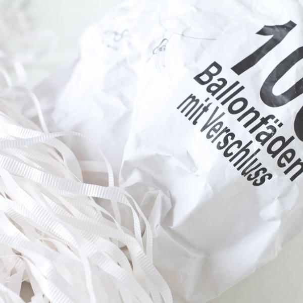 100 Ballonbänder mit Schnellverschluss