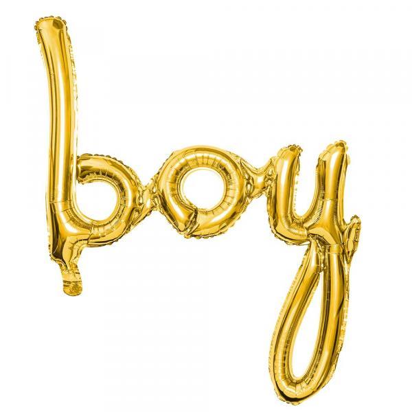 Boy Schriftzug Gold Ballon