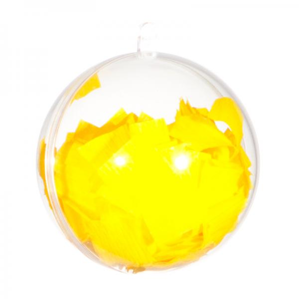 Ballongewicht / Geschenkkugel Konfetti hellgelb