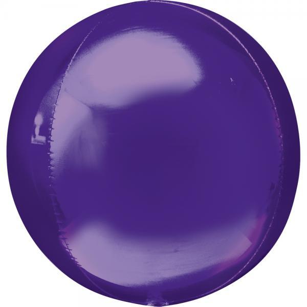 Orbz Kugel Folienballon Violett 40cm