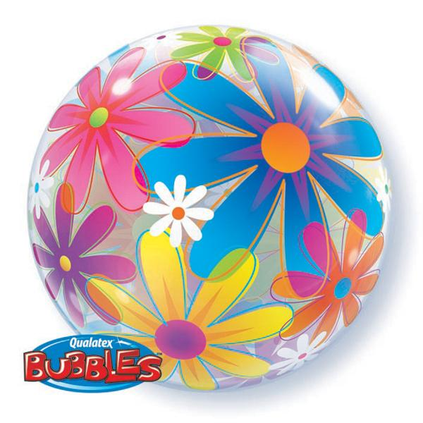 Fancyful Flowers Bubble Ballon