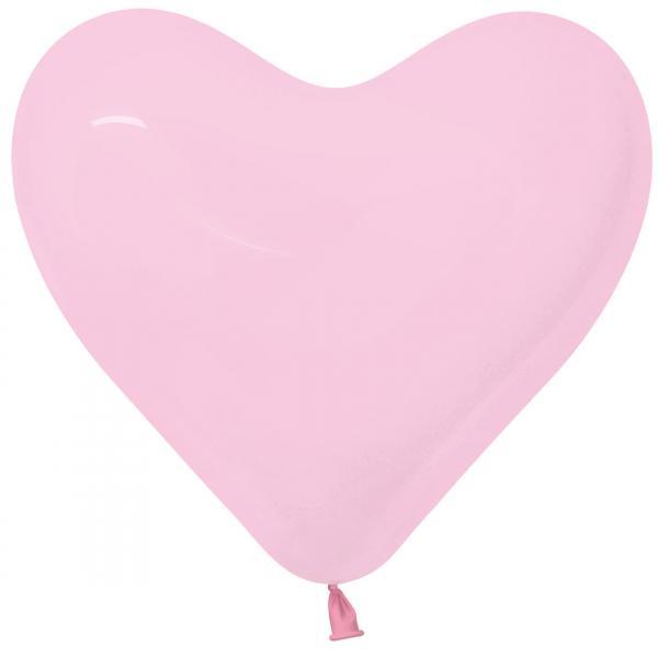 Herzluftballon Latex Rosa 35cm