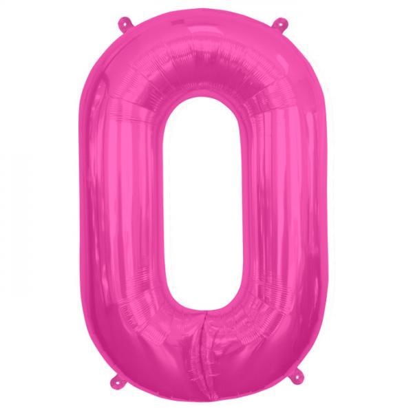 Buchstabe O Folienballon Pink XXL