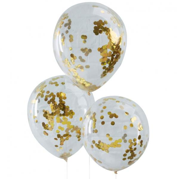 Gold Konfetti Ballon
