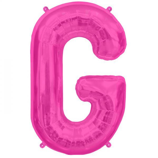 Buchstabe G Folienballon Pink XXL