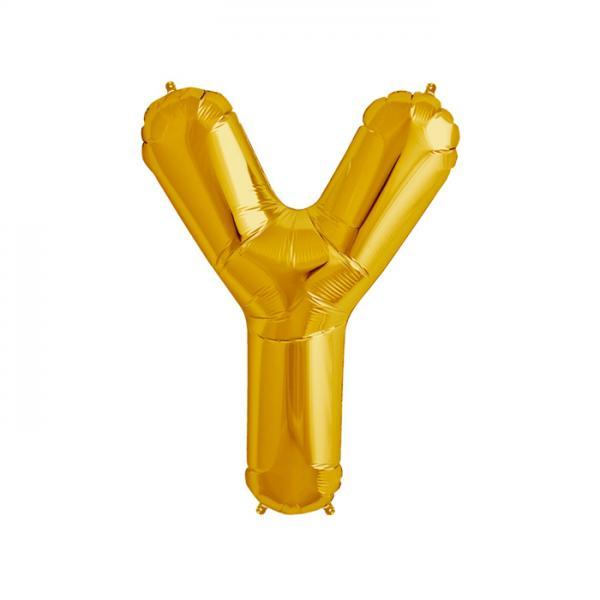 Buchstabe Y Folienballon Gold