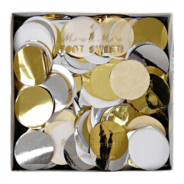 Metallic Konfetti rund