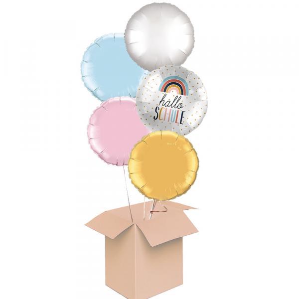 Ballonbox Schule 5er Bouquet