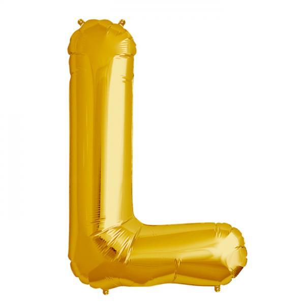 Folienballon Zahl L Gold