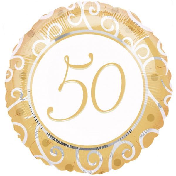 Goldene Hochzeit Zahl 50 Folienballon