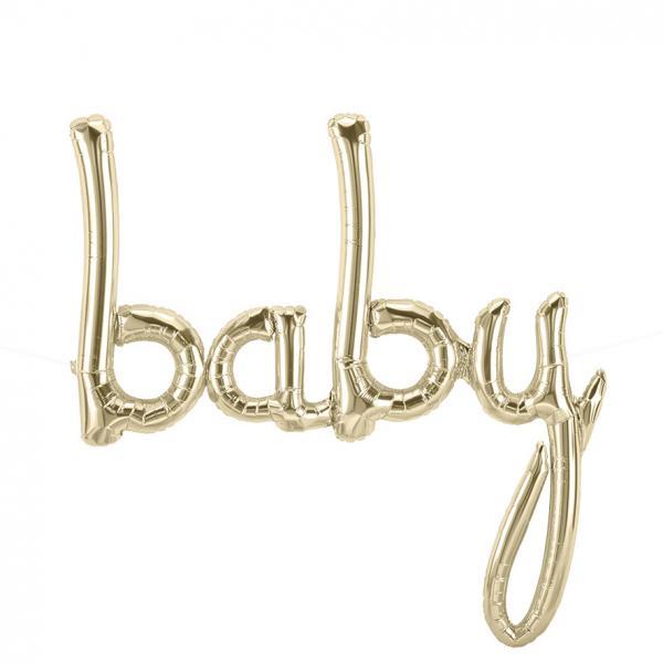 baby script schrifzug ballon