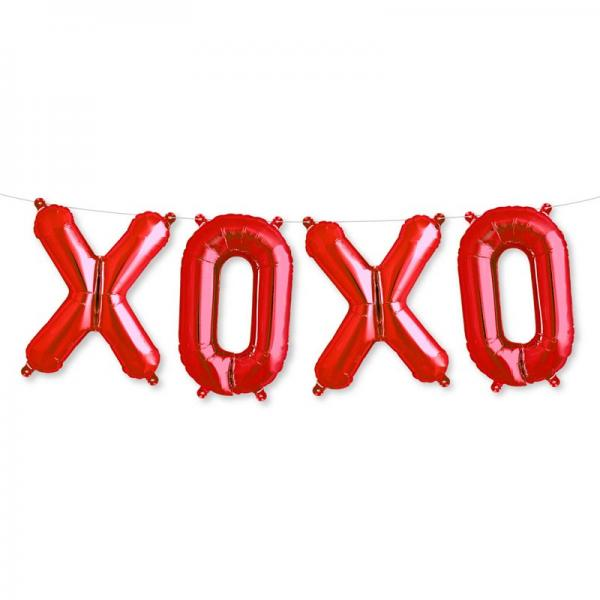 XOXO Ballon set rot