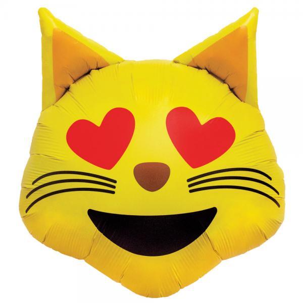 Emoji Katzen Ballon