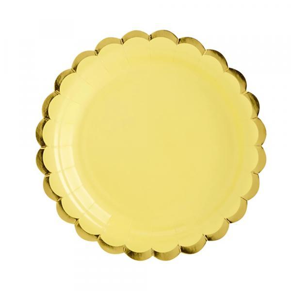Partyteller Pastell Gelb