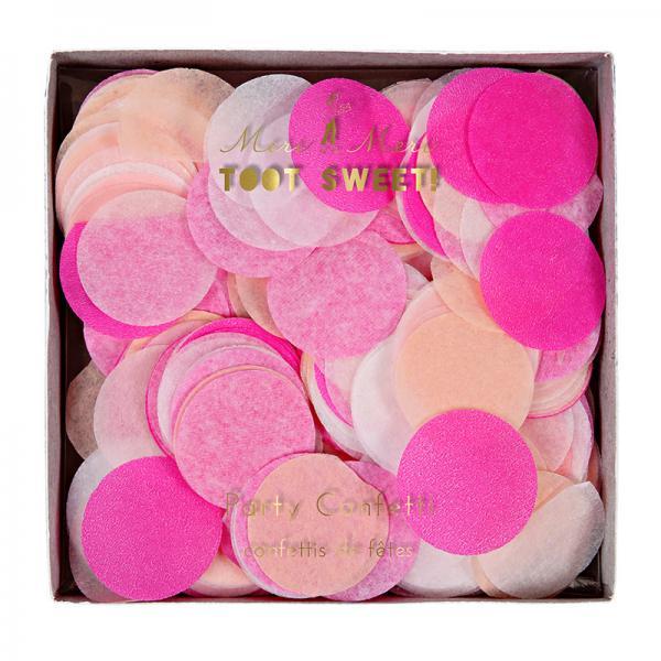 Konfetti rund pink rosa peach