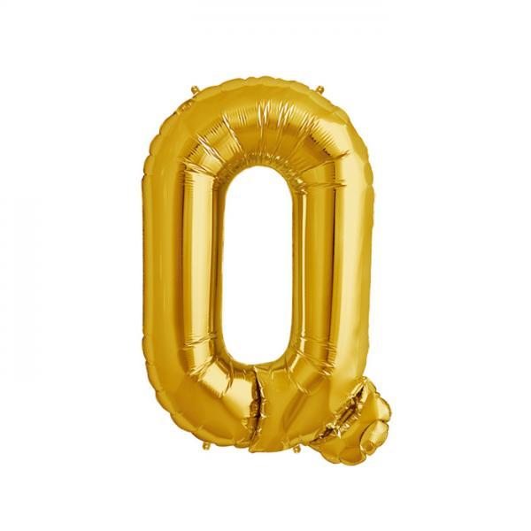 Buchstabe Q Folienballon Gold