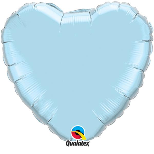 Herzballon Hellblau