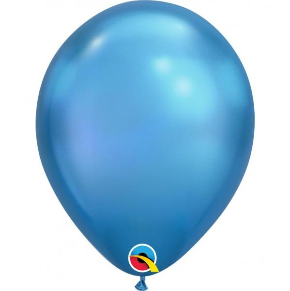 Chrome Metallic Luftballon Blau