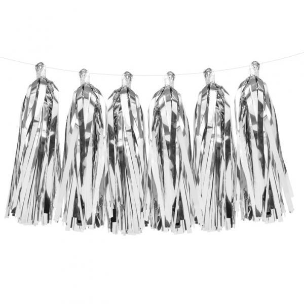 Tasselgirlande Silber