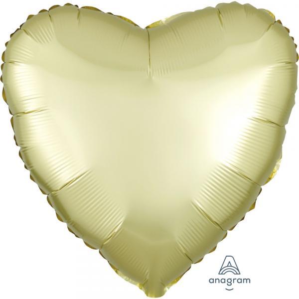 Folienballon Herz Gelb Chrome
