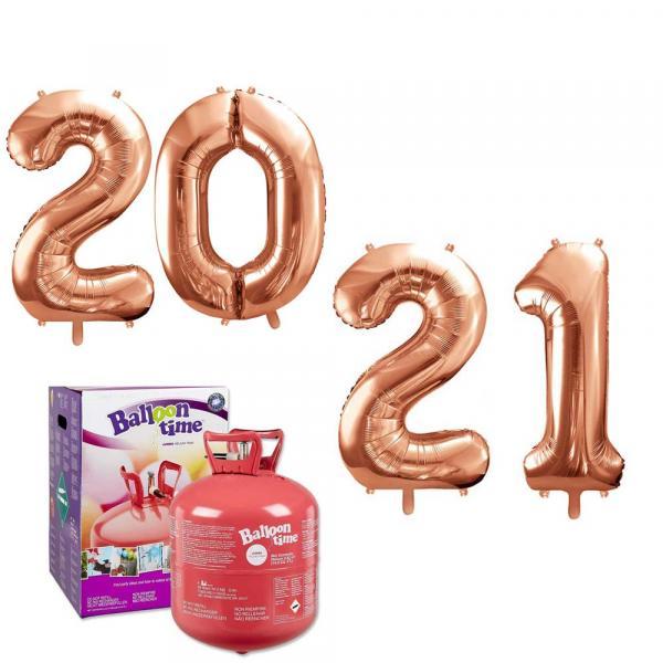 2021 Silvester Party Zahlen Ballon Set mit Helium