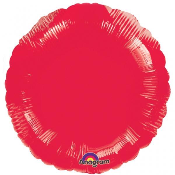 Folienballon Rund Rot
