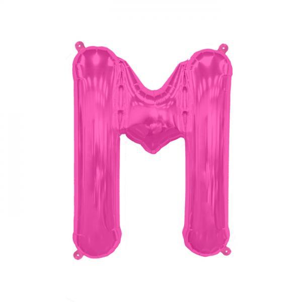 Buchstabe M Folienballon Pink