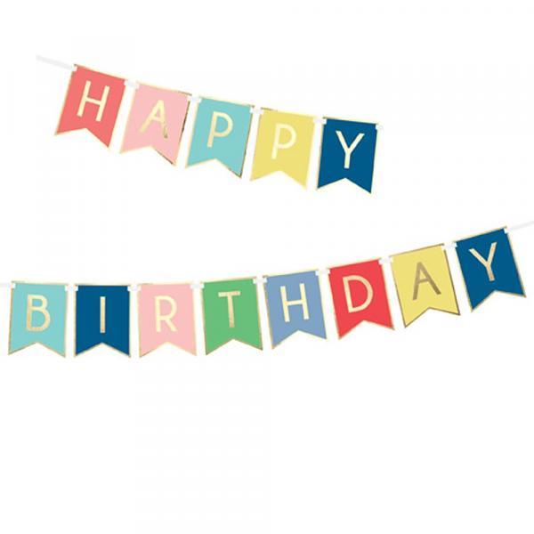 Banner Happy Birthday Bunt Wimpelkette