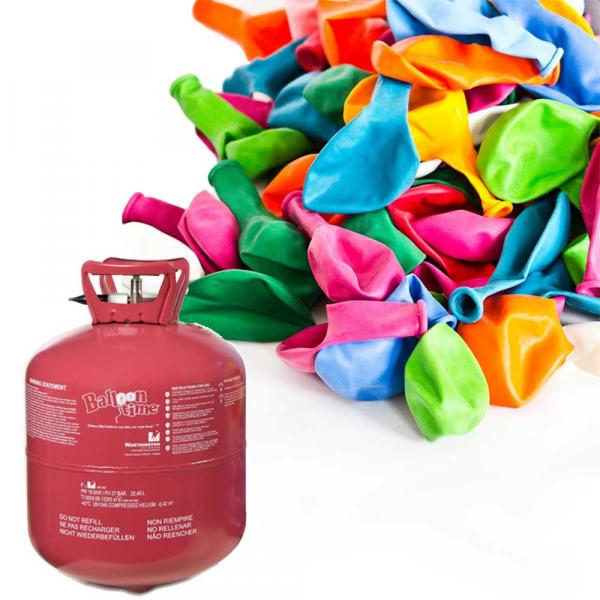 Luftballon Set mit Helium Band und Ballons