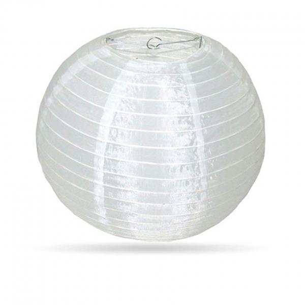 Lampion Weiß Nylon 35cm