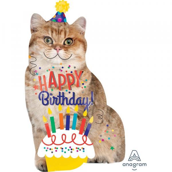 Happy Birthday Katze Folienballon