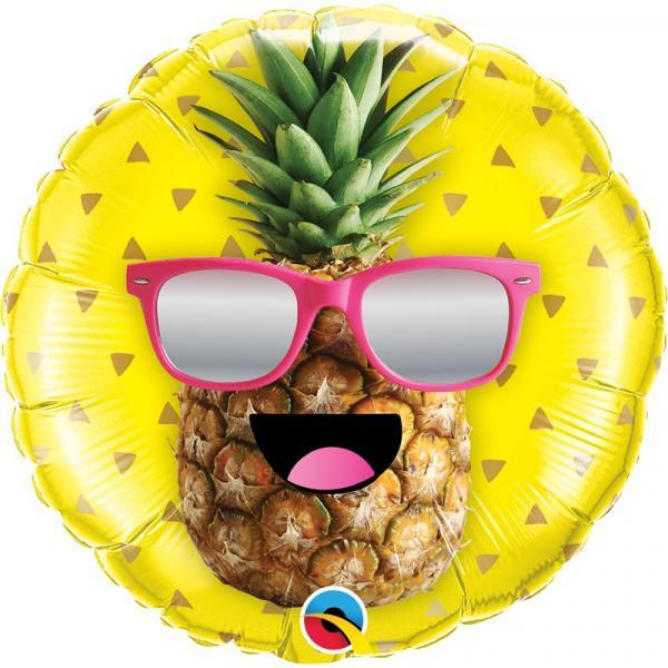 Ananas mit Sonnenbrille Ballon