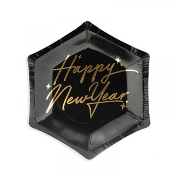 Happy New Year Partyteller Schwarz