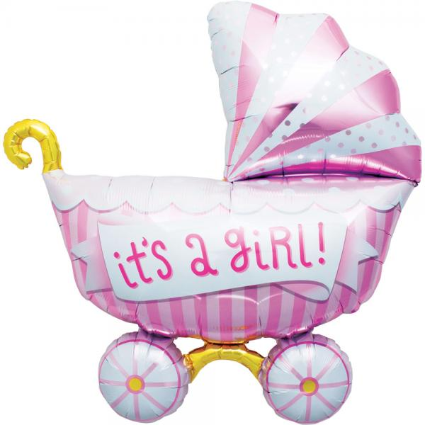 Its a girl Kinderwagen Ballon