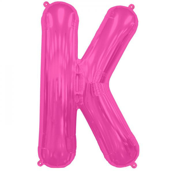 Buchstabe K Folienballon Pink XXL