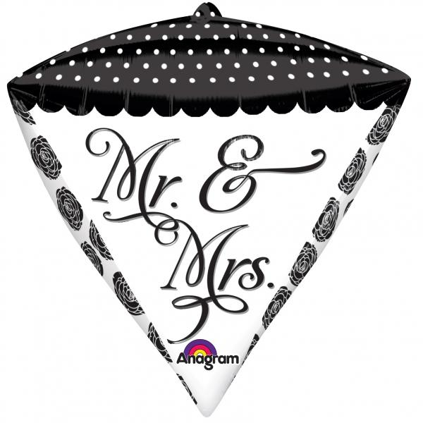 Mr. & Mrs. Hochzeit Diamant Folienballon