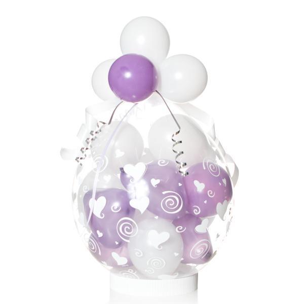 Geschenkballon: Herzen