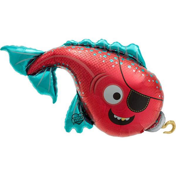 Piratenfisch Folienballon