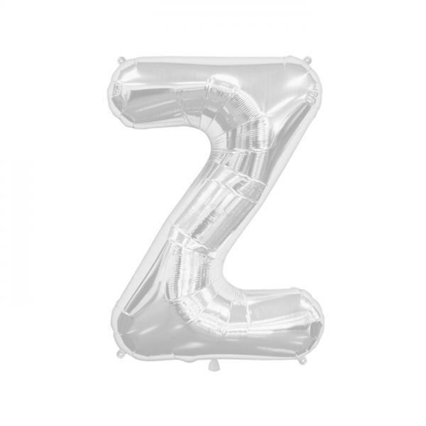Buchstabe Z Folienballon Silber