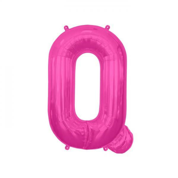 Buchstabe Q Folienballon Pink