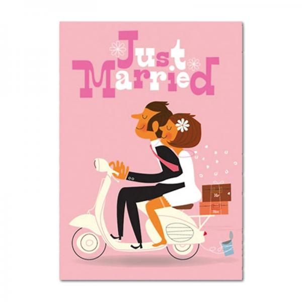 Grußkarte Frisch verheiratet