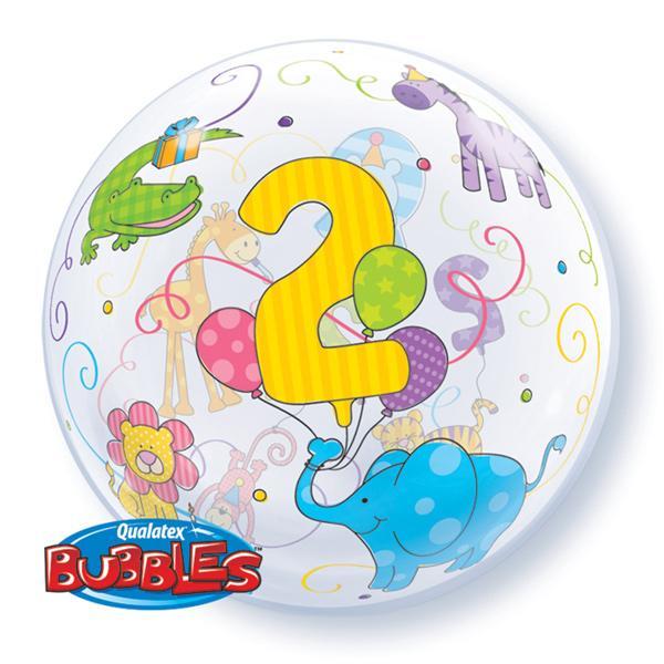 2. Geburtstag Dschungeltiere Bubble Ballon